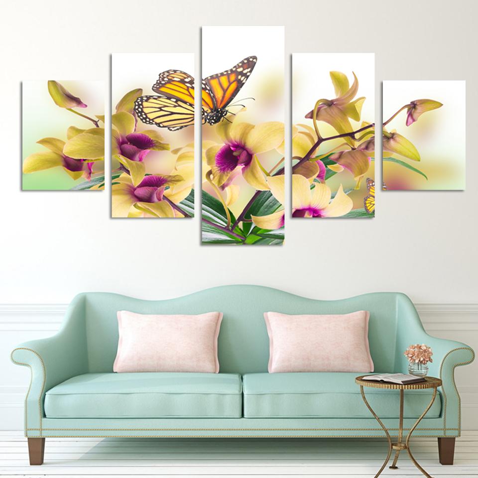 Online kopen wholesale geel wall art uit china geel wall art ...