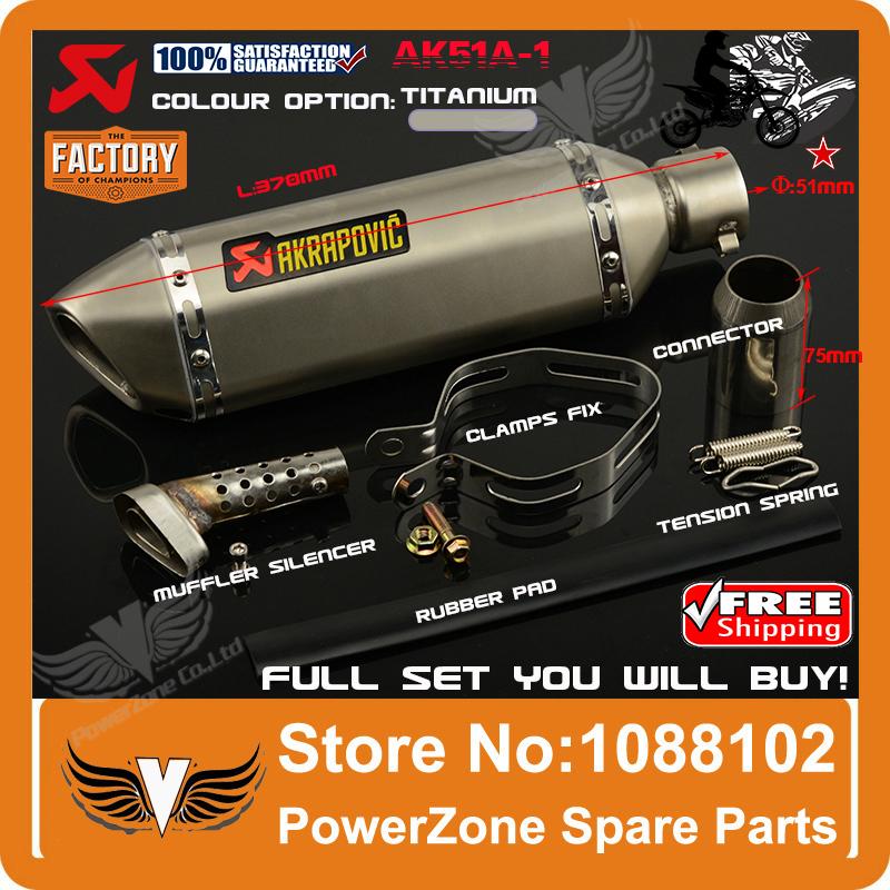 AK51A-1 Modified Motorcycle Exhaust Pipe Muffler CBR CB400 CB600 CBR600 CBR1000 KTM 990 DUKE ER6N ER6R YZF600 TTR Free Shipping(China (Mainland))