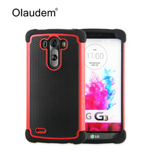 G3 High quality Fashion Hard Armor TPU + PC Hybrid Tough Phone Case For LG G3 Silicone Back Cover Rubber Protective Bag 74X(China (Mainland))