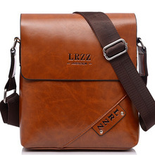 2016 New Famous Brands Casual Leather Men Messenger Bags Black Brown Business Travel Shoulder Bag Crossbody Bag Russia Hot Sale(China (Mainland))