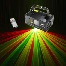 New Mini Remote DMX 200mW RGY Laser Stage Lighting Scanner DJ Dance Party Show Light LED Effect Projector Mix Yellow Red Green(China (Mainland))