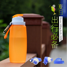 320ML Foldable Silicone Water Bottle Kettle White,Pink,Blue For Travel Outdoor Sport Camping Hiking Walking Running(China (Mainland))