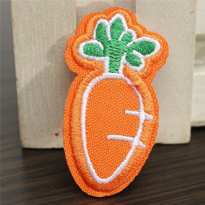 5pcs Clothes Bags Patch Sticker DIY Fabric Hot Radish Duck Trees Embroidery Home Sew Chart T-shirt Ornament 3 Styles Optional(China (Mainland))