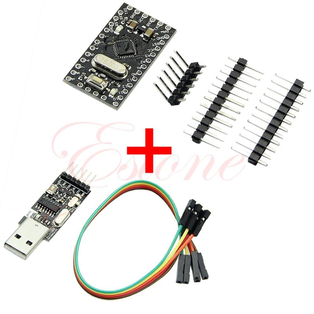 J34 Free Shipping USB2.0 To TTL 6Pin CH340G Converter + Pro Mini Atmega328 5V 16M For Arduino(China (Mainland))