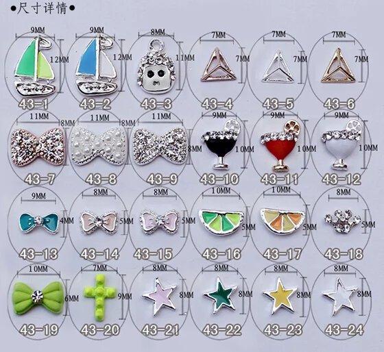 3D Rhinestone Alloy Metal Nail Art Tips Glitters Decoration Apple1000pcs Free Shipping   YB-35540003<br><br>Aliexpress