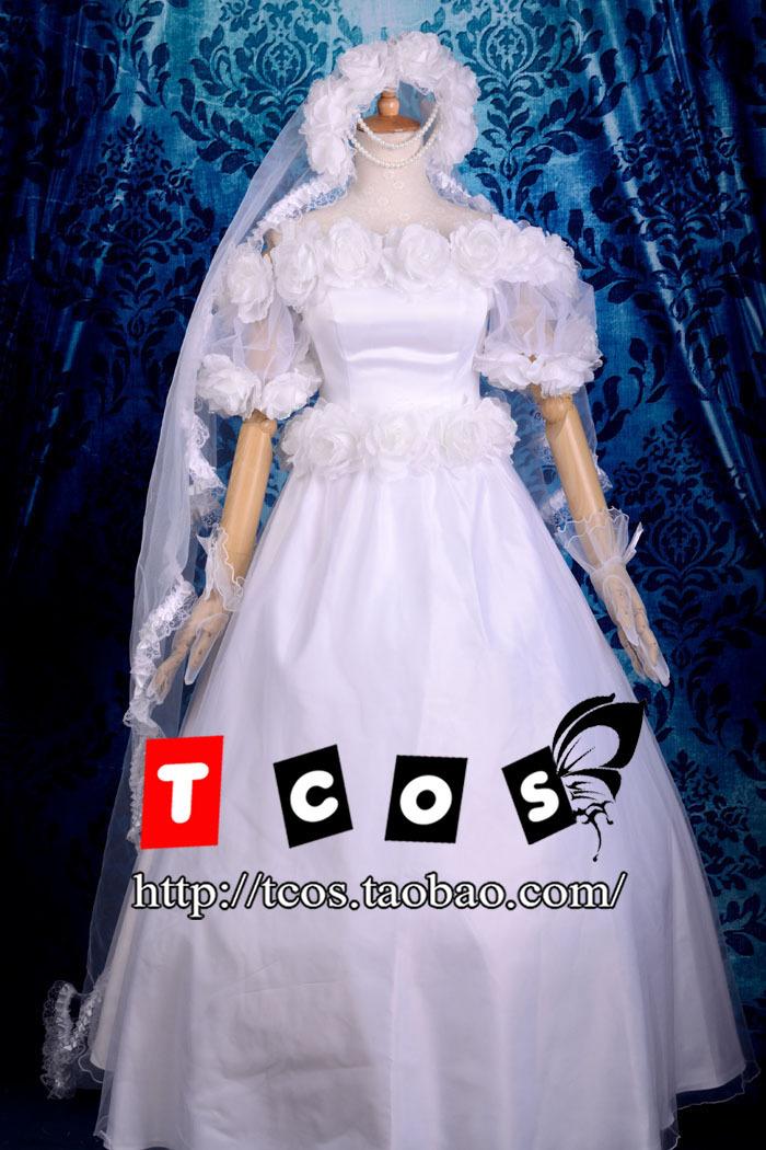 Free Shipping! Sailor Moon Princess Serenity Dress Wedding Gown Lolita Dress Cosplay Costume ,Perfect customized for you!Îäåæäà è àêñåññóàðû<br><br>