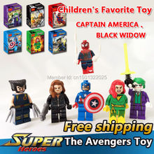 6pcs/lot Superheroes Spider Man The Joker Phoenix Hobbies Classic Toys Figures Diy Building Blocks Bricks Minifigures Toys