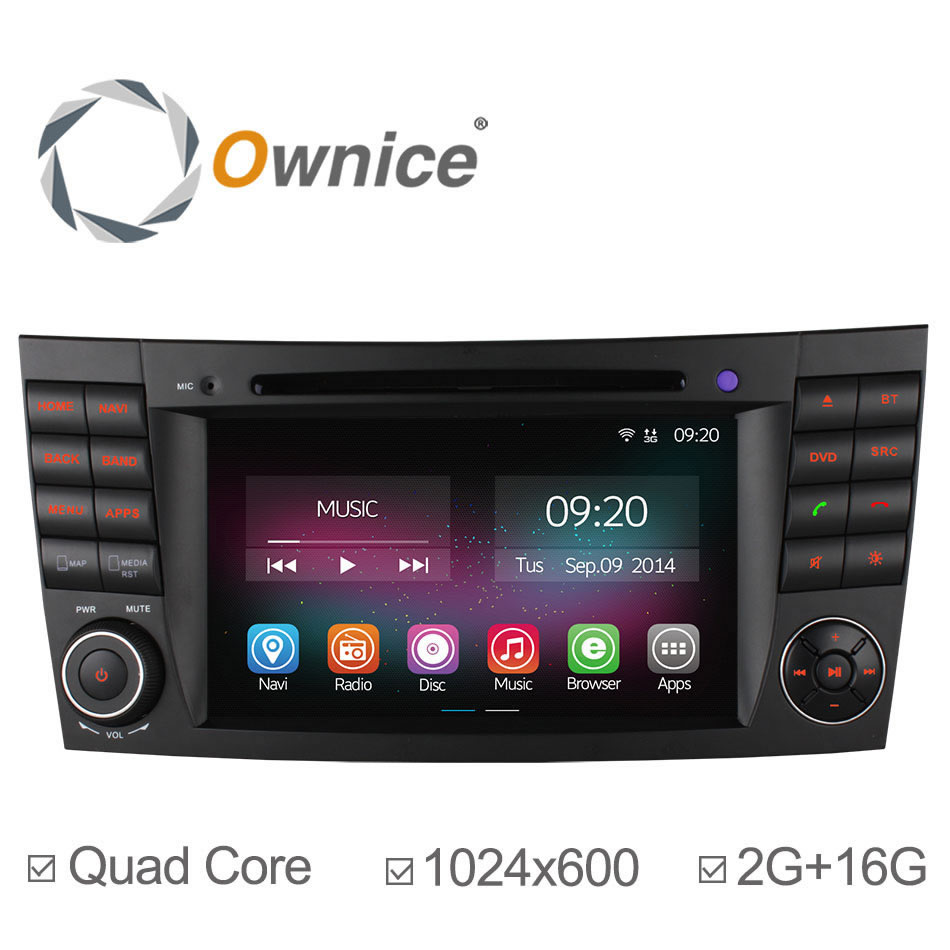 Ownice C200 2G RAM 1024*600 Android 4.4 Quad Core Car GPS Navigation For Mercedes W211 E Class E280 W463 W219 DVD Radio Headunit(China (Mainland))
