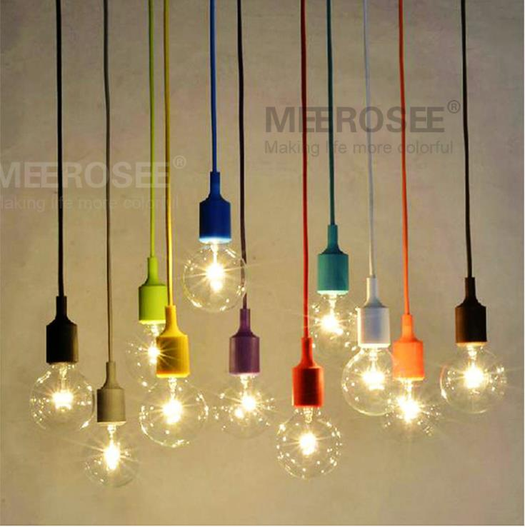 Aliexpress Acheter Colorful E27 Socket Pendant Light