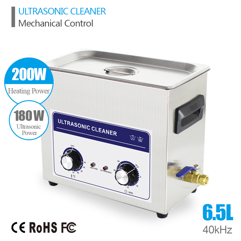 Ultrasound Injector Cleaning Transducer Machine Washer Washer 180W 40kHz 6.5L Industry Ultrasonic Generator Cleaner Bath(China (Mainland))