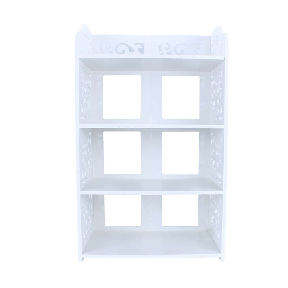 1Pcs White Wood Carving Shelf Storage