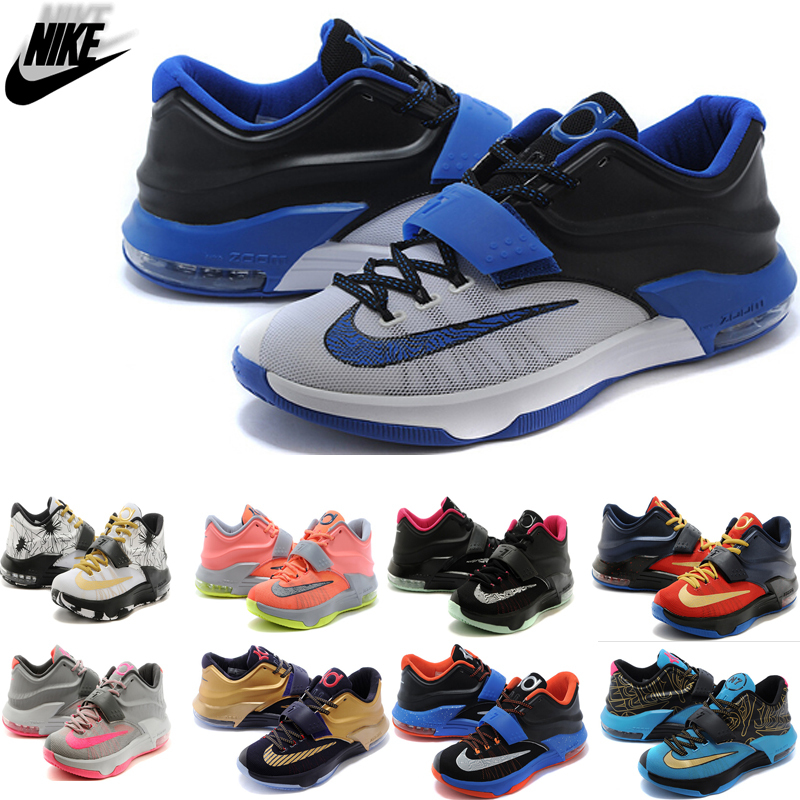 Original free shipping high quality 2015 mEN shOES kEVIN dURANT 7 kD 6 7 eLITE US 7 - 12(China (Mainland))