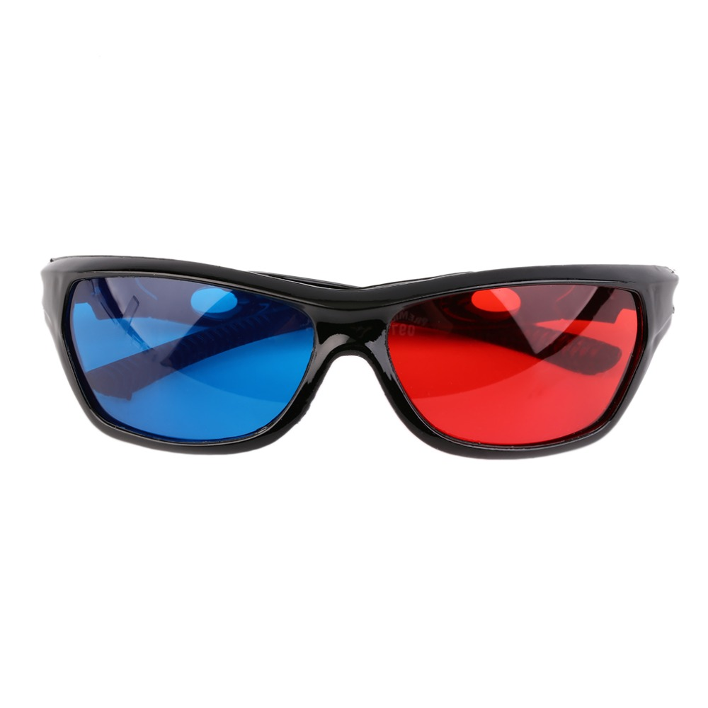 2015 New Universal 3D Plastic Glasses Black Frame Red Blue 3D Visoin Glass For Dimensional Anaglyph Movie Game DVD Video TV(China (Mainland))