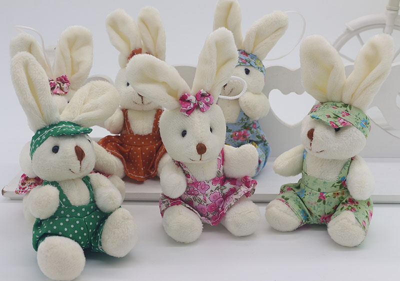 Free shipping Foreign trade plush toys Exported to Europe cotton print rabbit Easter Bunny doll(China (Mainland))