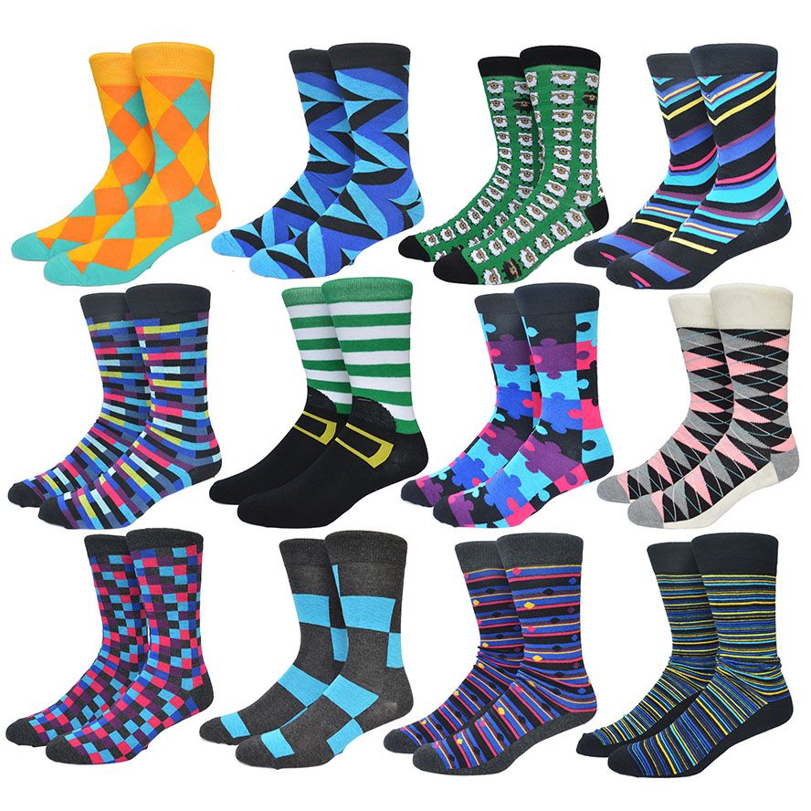 Summer Style Colorful Socks Men Blue Series Stripes and Grids Cotton Sox Mens Business Dress Socks 20 colors 617w(China (Mainland))