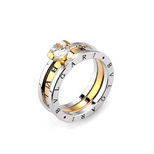 Classic Design Fashion Big Famous Brand Ring Luxury Elegant Cubic Zircon Women Rings Free Shipping