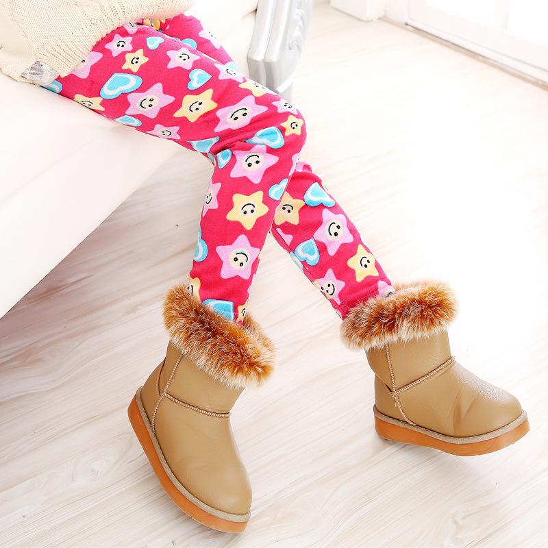 Plus Velvet Winter Girls Leggings Thick Girls Warm Pants 2-10 Years Kids Baby Girls Pants Leggings For Girls Winter Trousers(China (Mainland))