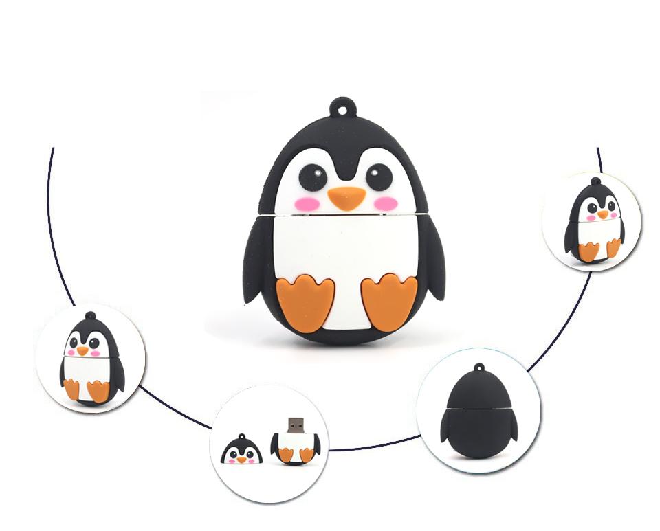 Real capacity Cute little Penguin USB Flash drive Real capacity 64GB 32GB 8GB Penguin Pen disk memory stick 16GB U disk(China (Mainland))