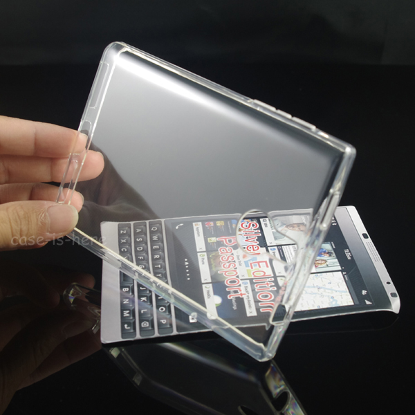 Soft Transparent TPU Gel Cover Case Skin For Blackberry Passport Silver Edition(China (Mainland))