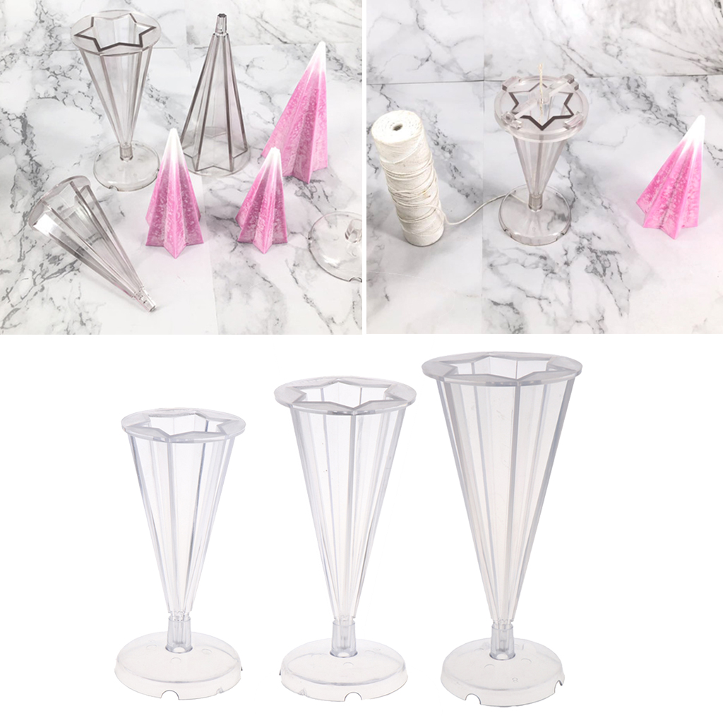 DIY Resin Molds Jewelry Making Mould Tool Ornament Cone Plastic Candles Mold for Polymer Clay,Crafting,Epoxy Resin, Dried Flower