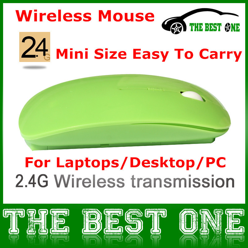 Best Quality Ultrathin Mouse Wireless USB Optical Gaming Mouse For Laptops & PC With 6 Candy Colors Optional(China (Mainland))