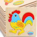 Free delivery the wooden puzzle toys cartoon animals puzzle 28 child educational 3D Jigsaw Board classic