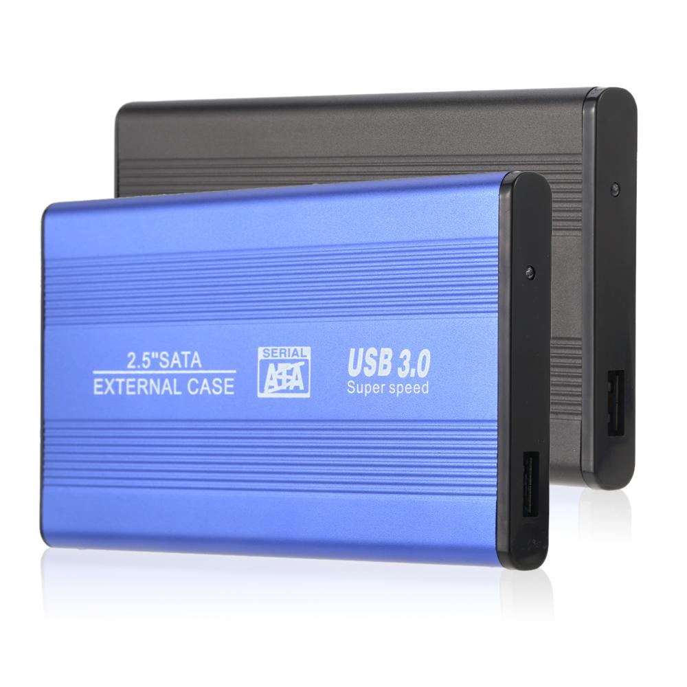 "Superspeed USB 3.0 HDD SSD SATA External Aluminum 2.5"" Hard Drive Disk Box Enclosure Case up to 1TB 2.5"" SATA external case(China (Mainland))"