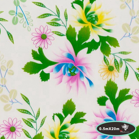 Fancy floral printing water transfer printing hydrographics film,50cm*20m,water transfer film HYA-108(China (Mainland))