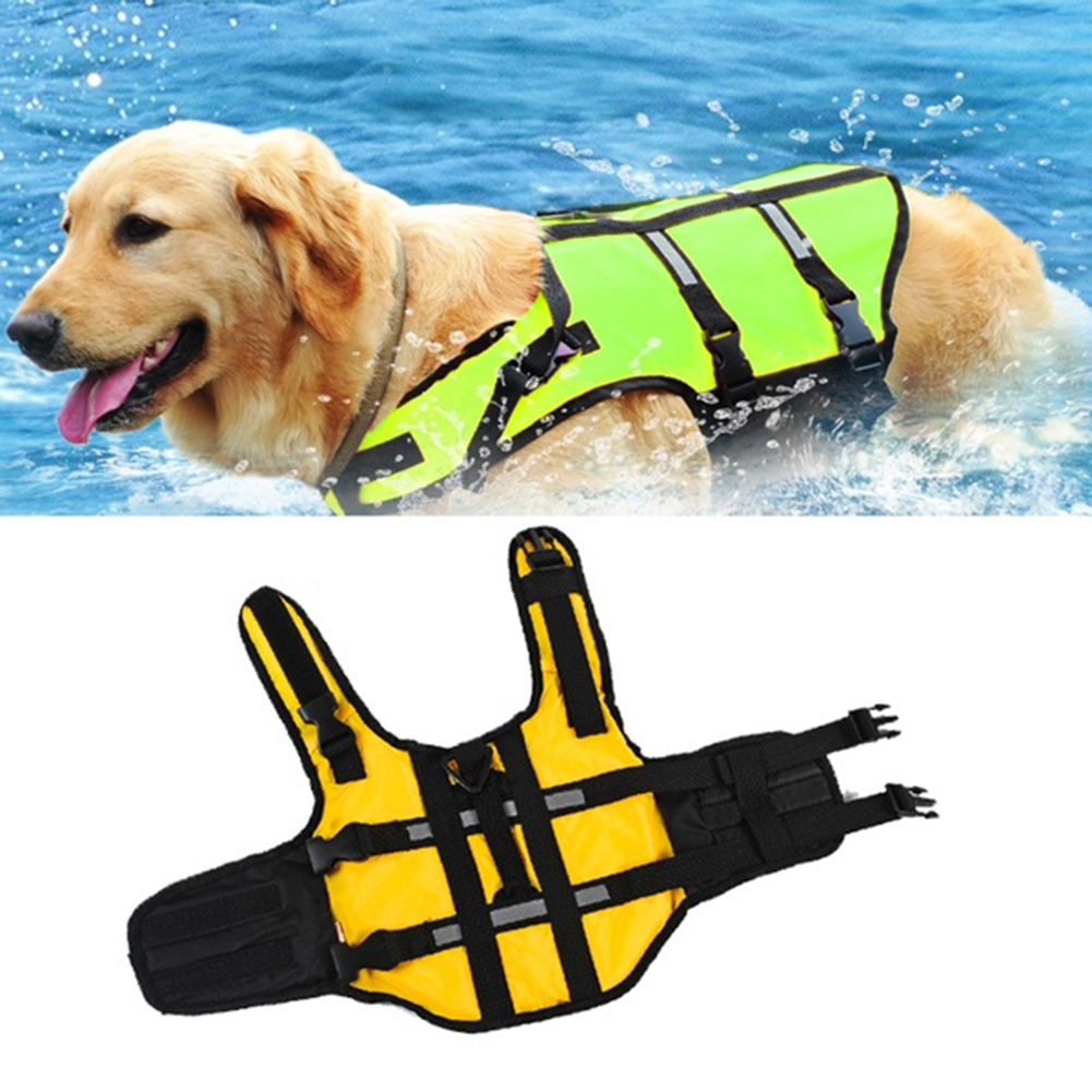 Dog Life Jacket Pet Life Vest Outward Hound Saver Rescue dogs Swimming Preserver Safety Swimsuit Big Dog Clothes Plus size(China (Mainland))