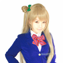 New arrival! LoveLive Minami Kotori GrayBrown 2 pcs set wig Long Straight Cosplay wig for free shipping (NWG0CP61153-ER2)(China (Mainland))