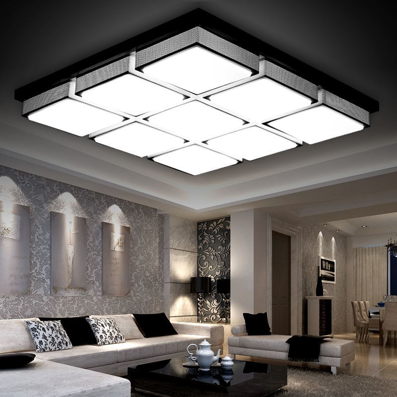 2016 modern led ceiling lights for living room lamparas de for Living room light fixtures