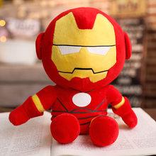 NOVA 28-65 centímetros Marvel Vingadores Capitão América Homem De Ferro Homem Aranha Plush Soft Toy Stuffed Boneca Presente de aniversário para crianças Meninos(China)