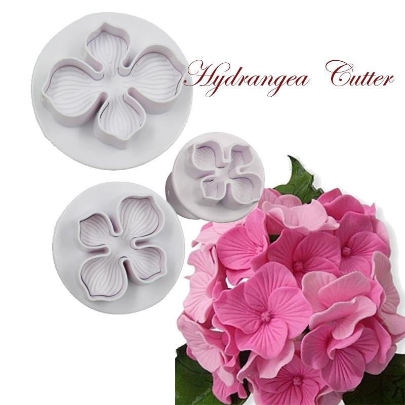 Cake Art Flower Moulding Paste Instructions : 3Pcs/Set Hydrangea Fondant Cake Decorating Sugar Craft ...