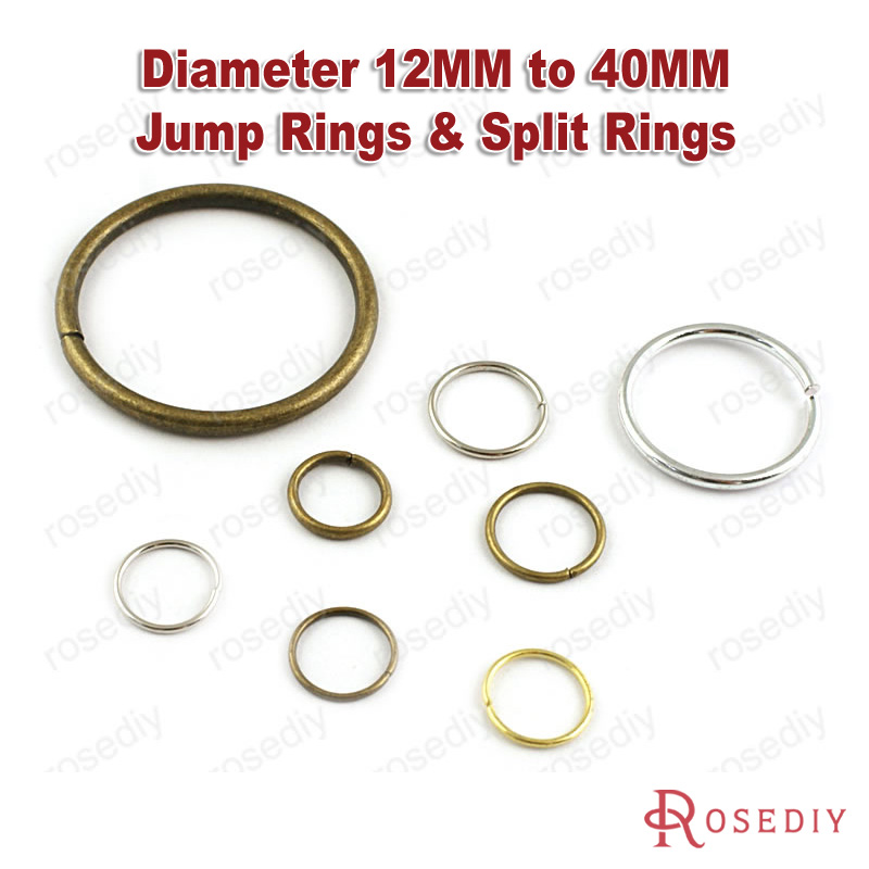 (8428)Diameter 12MM to 40MM Iron & Aluminum Jump Rings & Split Rings Jewelry Connect Accessories Findings(China (Mainland))
