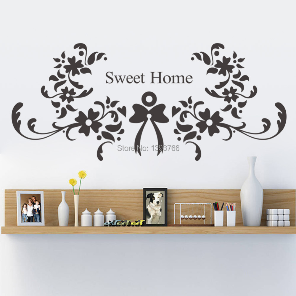 Sweet home wall stickers zyva 8375 vinyl wall decals Home sweet home wall decor