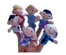 1PCS Plush toys hand puppet small toys early childhood parenting small cloth finger puppets toy doll Free shipping(China (Mainland))