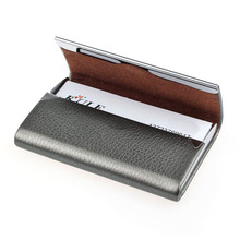 Hcandice New Leather Business Credit Card Name Id Card Holder Case Wallet Box Best Gift Drop Shipping Jan9(China (Mainland))