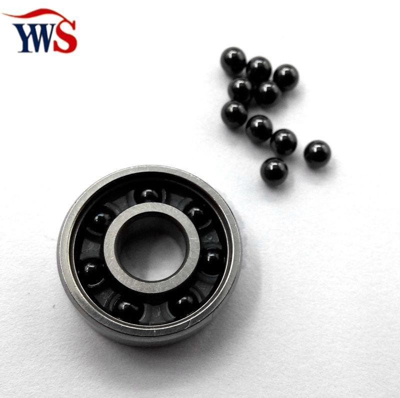 5pcs/lot supply ceramic hybrid bearing 609 609-2rs si3n4 ball nylon cage chrome race(China (Mainland))