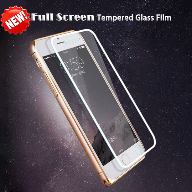 Full Screen Protector Protective Cover Film Silvery 0.26mm Premium Tempered Glass pelicula de vidro iPhone 6 plus 6S Plus - Corcossi Science & Technology CO., LTD store