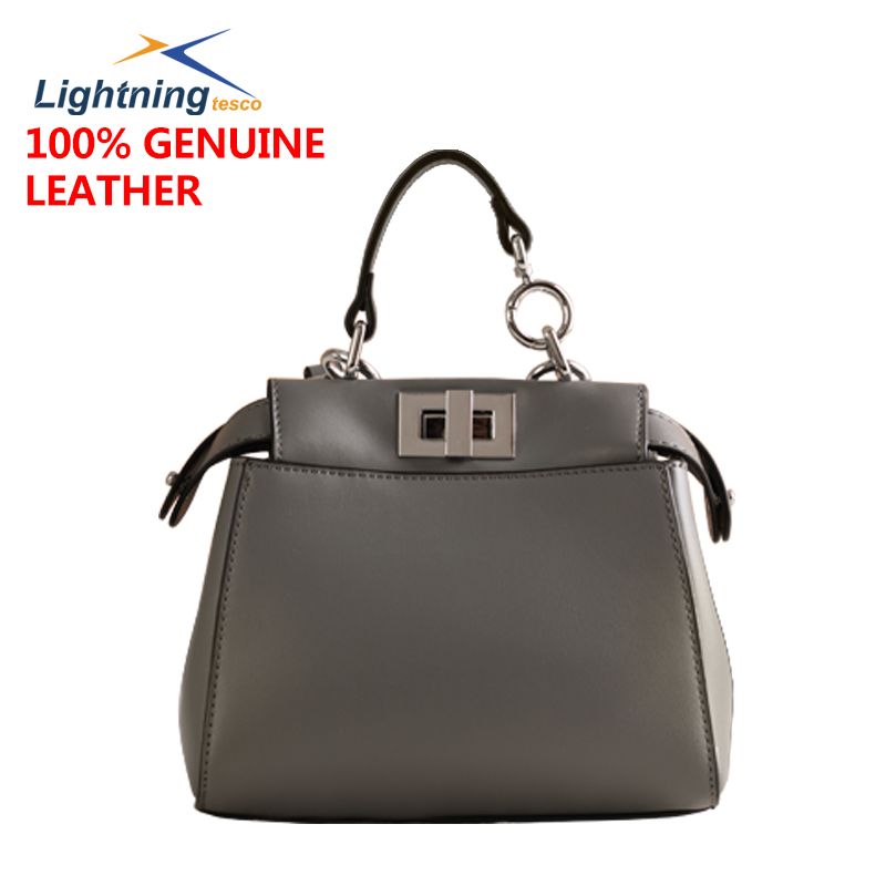 2015fashion genuine leather bag imported cowhide women handbag peekaboo mini women bag female bolsa feminina desigual casual bag(China (Mainland))