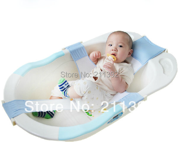 Toddler Newborn Safety Shower Bath Seat Tub Baby Bathtub Support Net Cradle Mother's good helper Two Color choose Free Shipping(China (Mainland))
