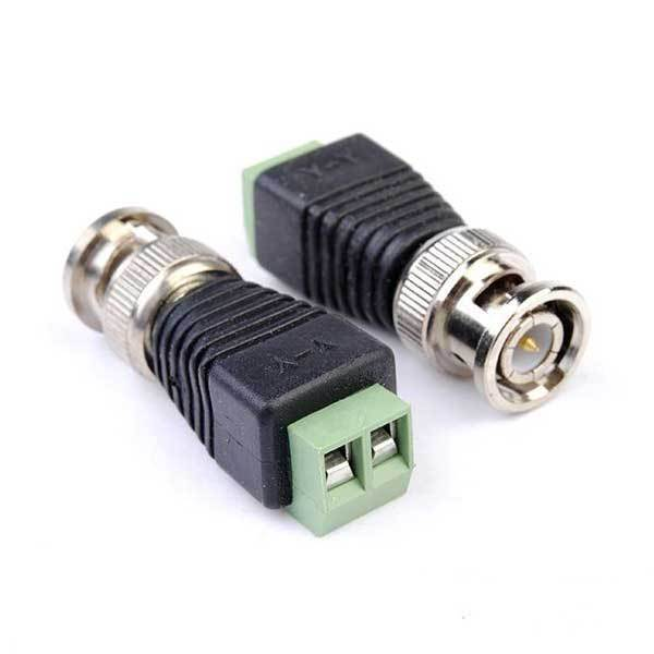Hisales 2pcs Coax CAT5 BNC Video Balun Connector for Security Camera System(China (Mainland))