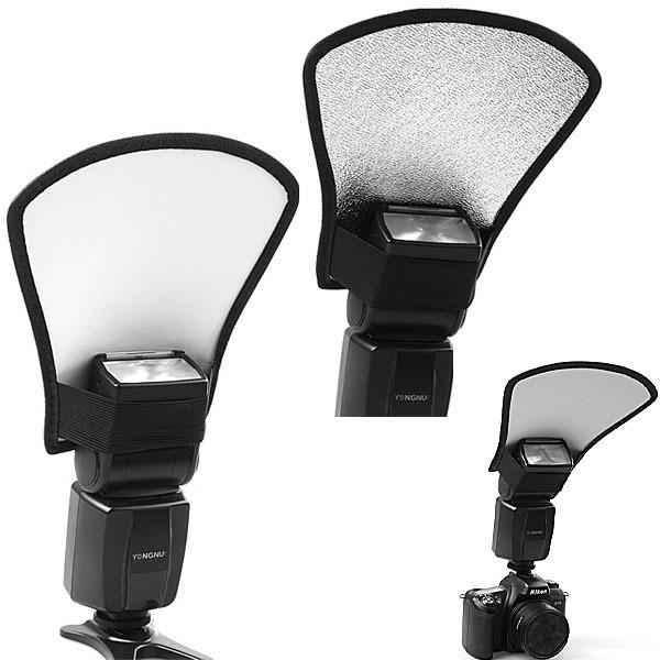 Camera Flash Diffuser Softbox Silver White Reflector Canon 580EX Nikon SB-600 Pentax Yongnuo Accessories - electronic photographic equipment store