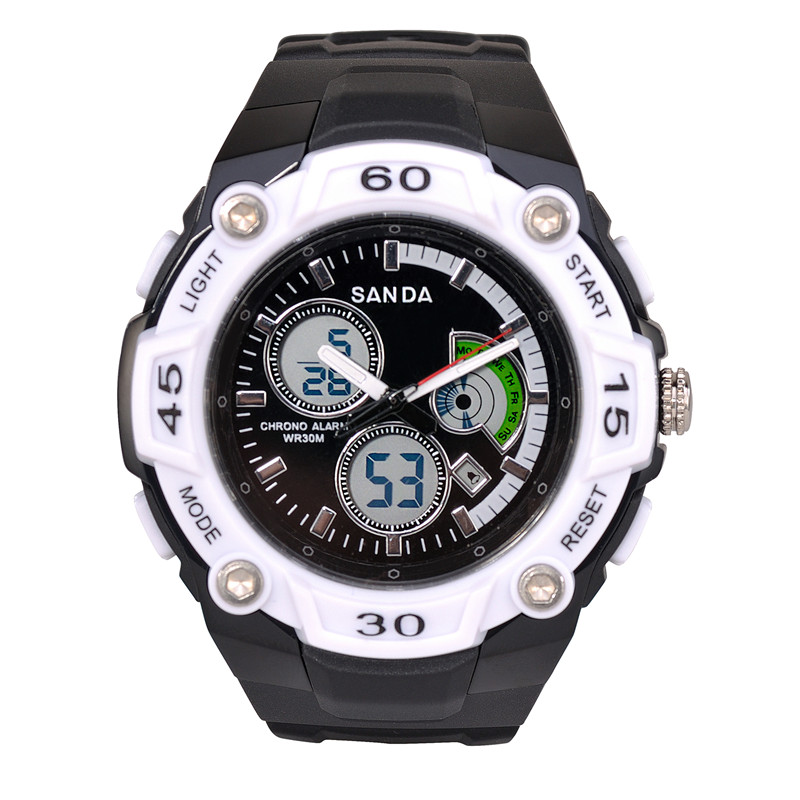 Men's Quartz Digital Watch Men Sports Watches Relogio Masculino SANDA S Shock Relojes LED Military Waterproof Wristwatches(China (Mainland))