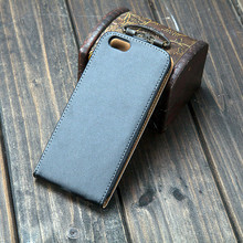 Fashion Business Retro Leather Mobile Phone Bag for iPhone 6 6s Luxury Vertical Magnetic Flip Phone Accessories Cover Black