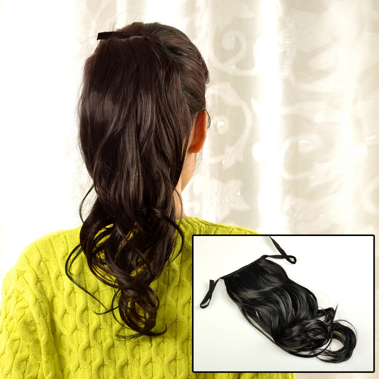 Ponytail 2015 Sale Special Offer Hair Clip-in Straight Sex Products Dark Weave The Wig Accessories Headdress Bangs Horsetail(China (Mainland))