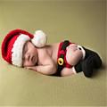Christmas Costume Newborn Baby Crochet pants Hat Shoe Infant Toddler Clothes Autumn Winter Knit Caps