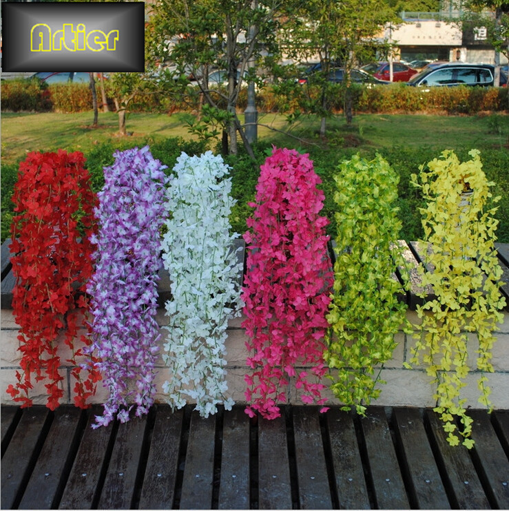 Simulation artificial flower vine evergreen vines green radish plants rose corsage rattan wall(China (Mainland))