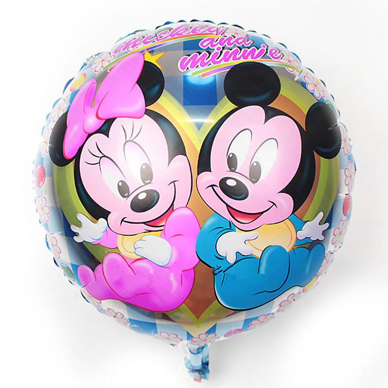 Бесплатная доставка новый 18 дюйм ов фольгированные шары микки минни детские игрушки оптовая продажа ну вечеринку