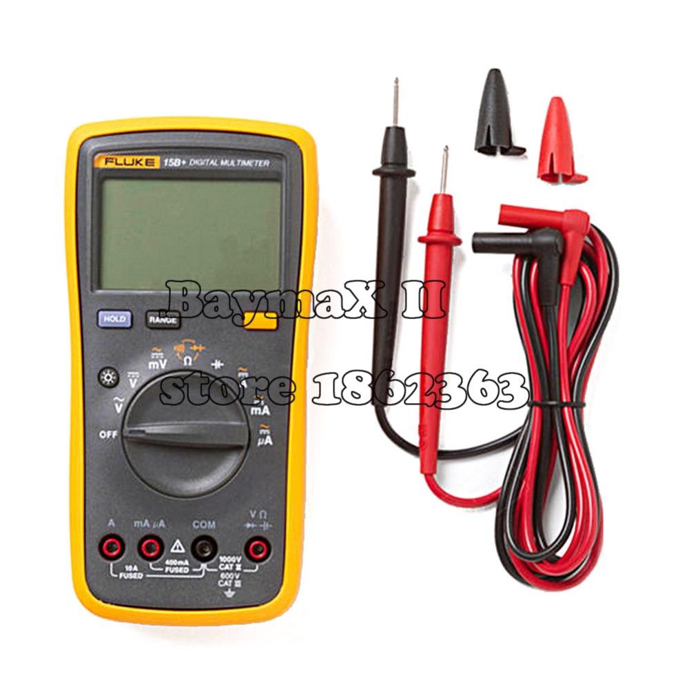 FLUKE 15B+ 4000 Counts AC/DC Voltage,Current,Capacitance,Ohm Auto/Manual Range Digital multimeter meter